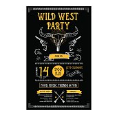Invitation wild west party.