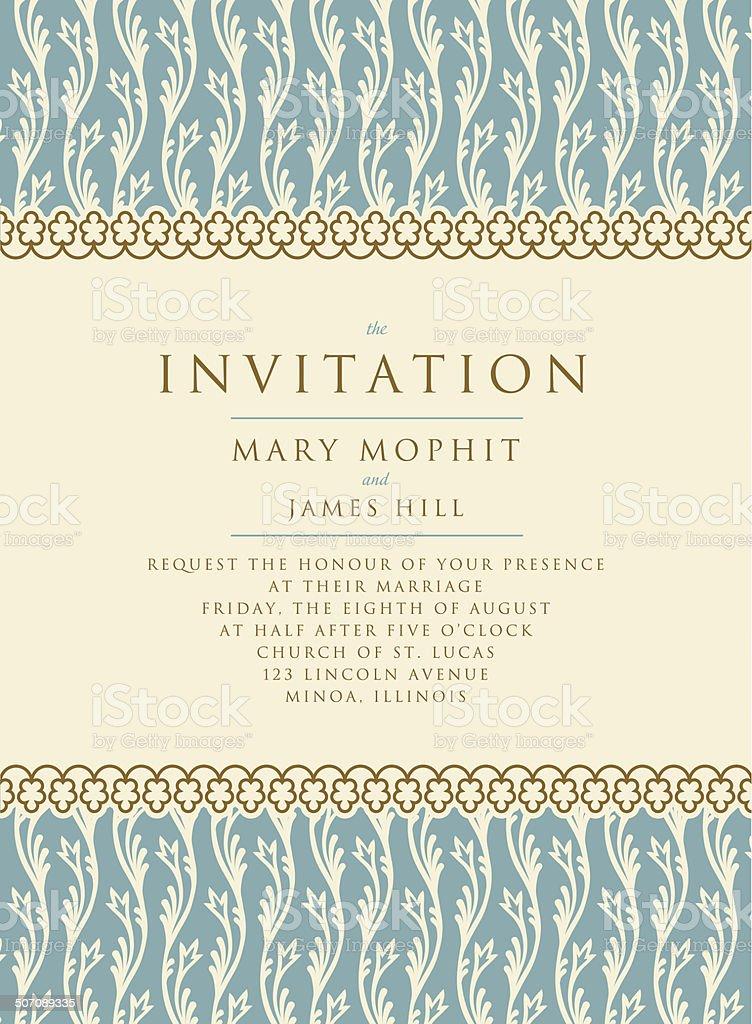 Invitation Avec Un Riche Fond De Style Renaissance Le Modèle Stock