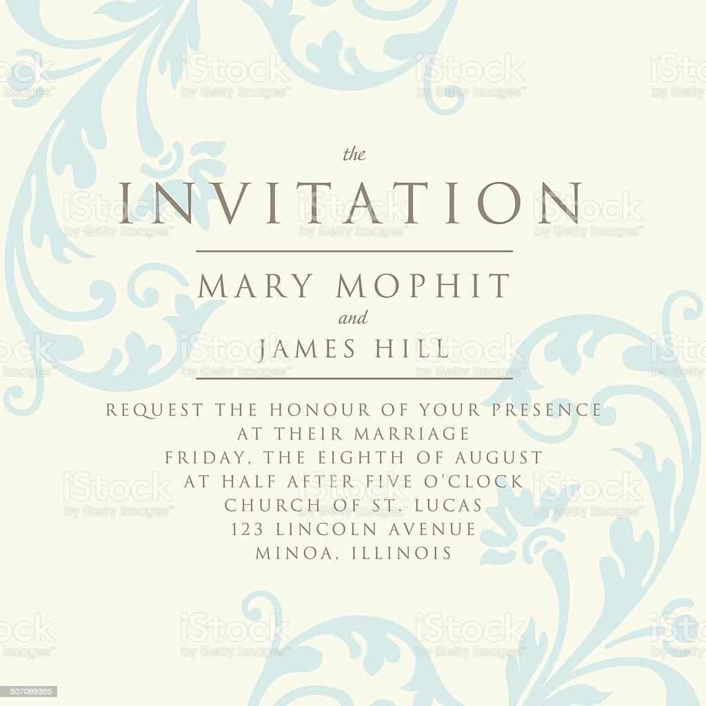 Invitation Avec Un Riche Fond De Style Renaissance Le Modèle