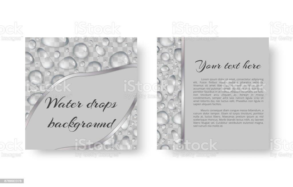 Invitation with droplets vector art illustration