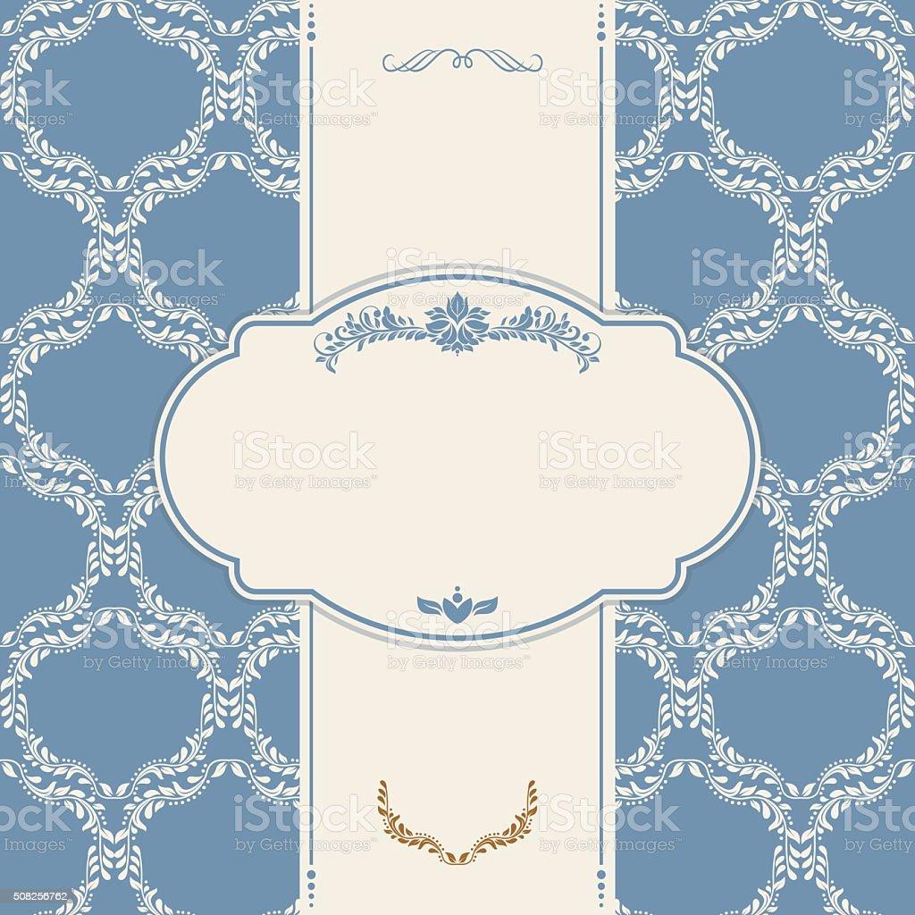 Einladung Mit Viktorianischen Ornamenten Und Jahrgang Frame Stock ...