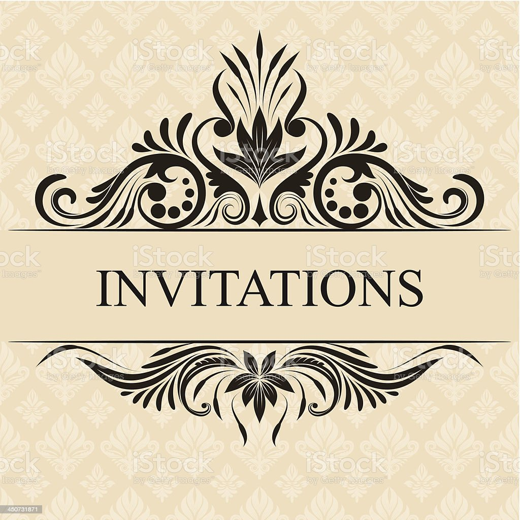 Invitations Border royalty-free invitations border stock vector art & more images of announcement message