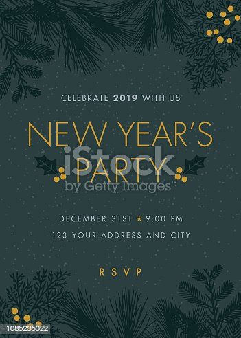 NEW YEAR'S PARTY invitations