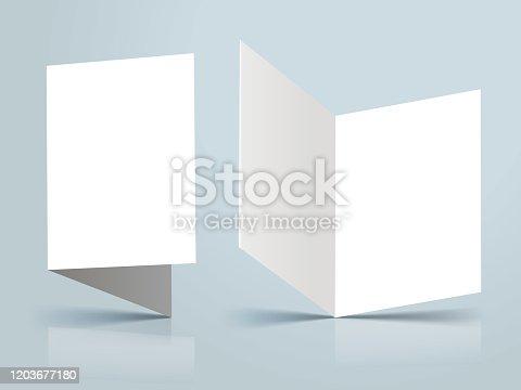 blank invitation template mockup