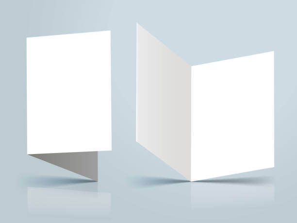 invite model standing blank invitation template mockup brochure templates stock illustrations