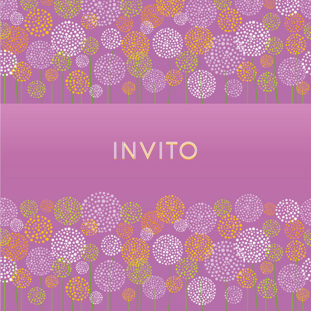 Invito. Invitation. Summer Background. vector art illustration