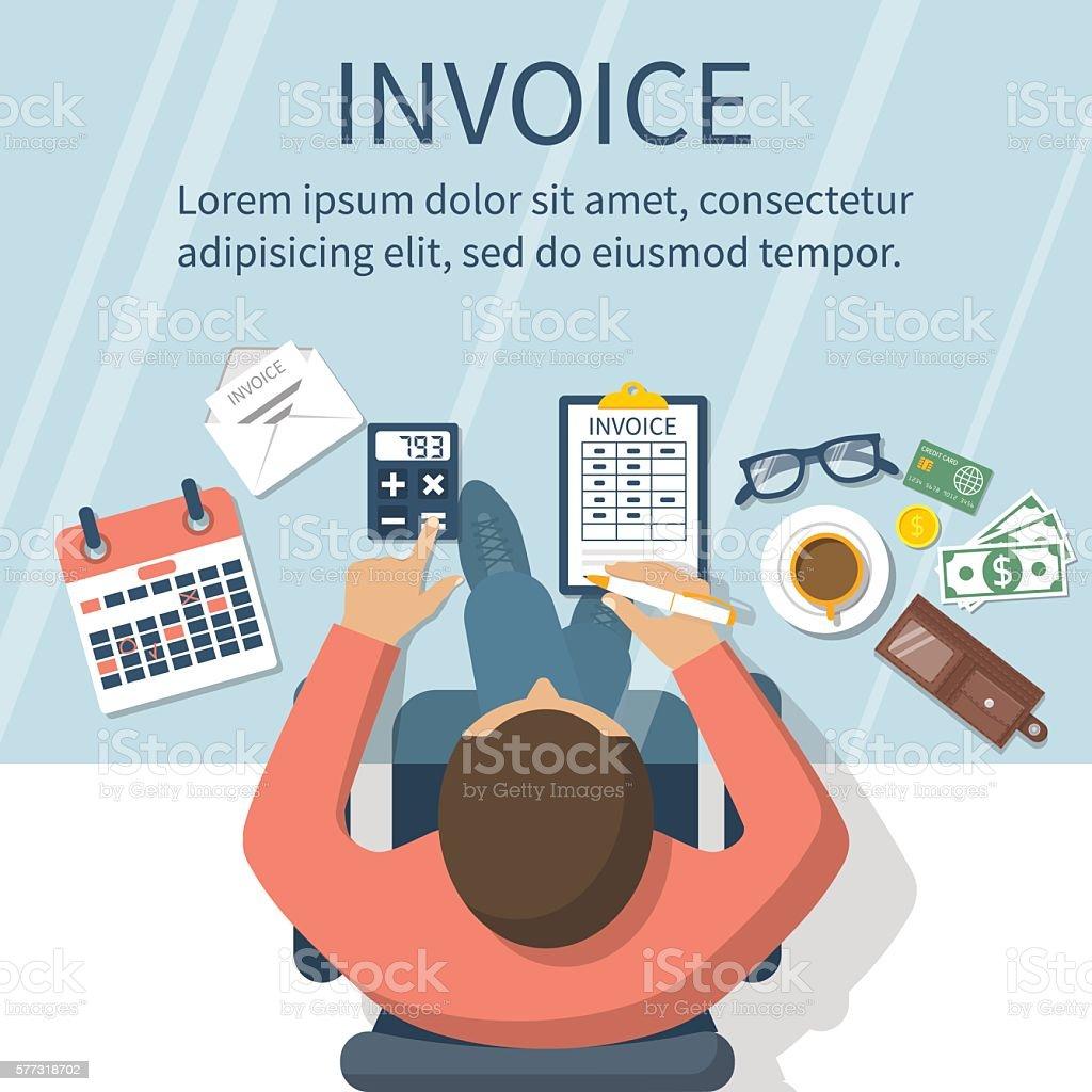 Invoice concept vector - ilustración de arte vectorial