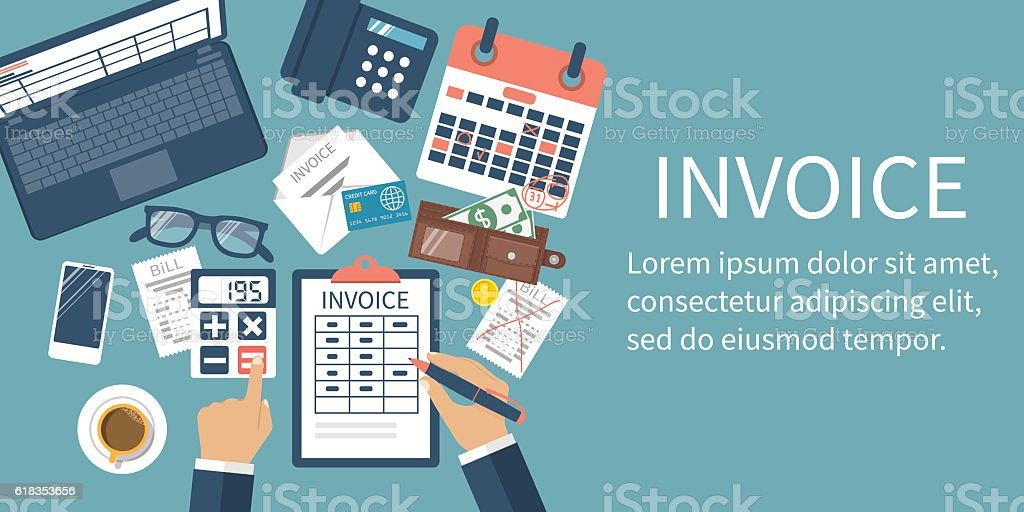 Invoice concept vector vector art illustration