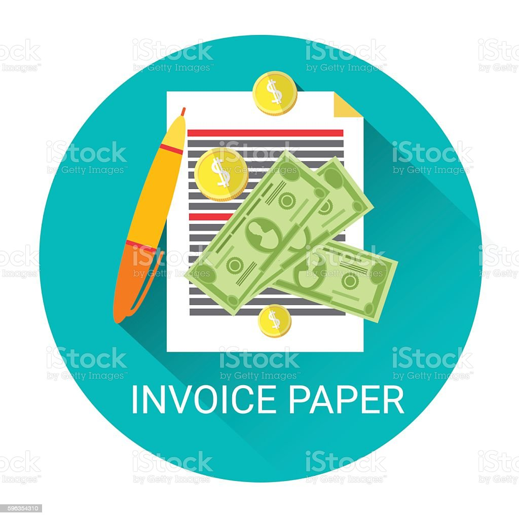Invoice Financial Bill Paper Business Economy Icon royalty-free invoice financial bill paper business economy icon stock vector art & more images of bank