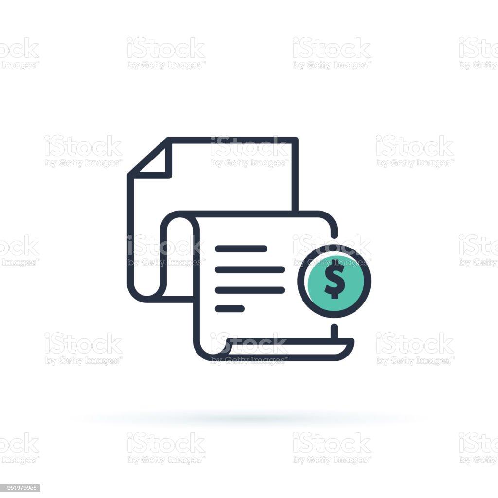 Rechnungsymbol Rechnung Bezahlt Symbol Steuerformularübersichtsymbol
