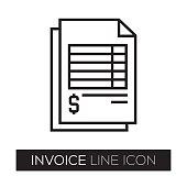 istock Invoice Line Icon 823893764
