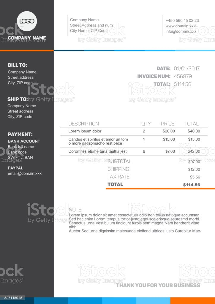Invoice template stock vector art more images of accountancy invoice template royalty free invoice template stock vector art amp more images of accountancy maxwellsz