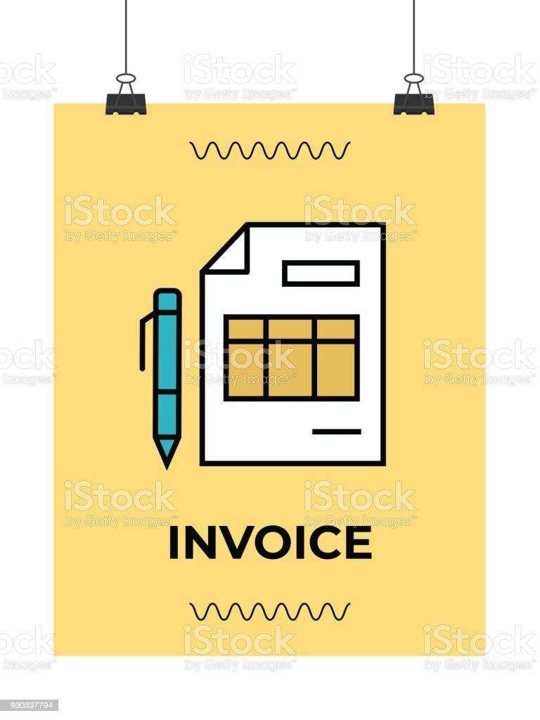 invoice vector icon stock vector art more images of atm. Black Bedroom Furniture Sets. Home Design Ideas