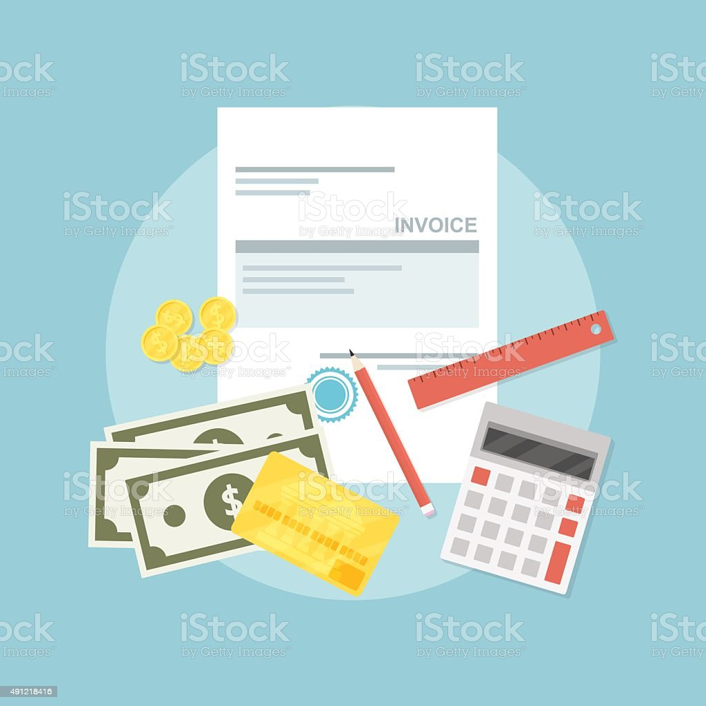 invoice vector art illustration