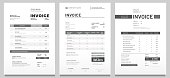 istock Invoices templates. Price receipt, payment agreement and invoice bill template vector set 1176090865