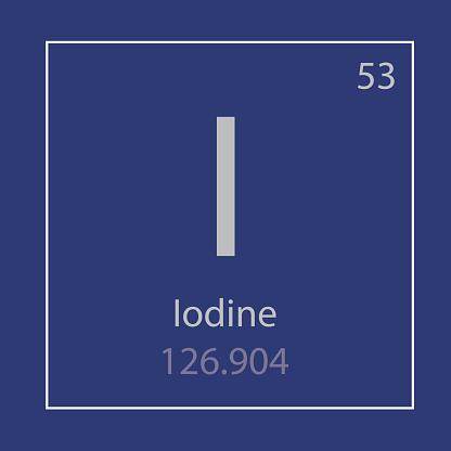 요오드 제가 화학 요소 아이콘 0명에 대한 스톡 벡터 아트 및 기타 이미지