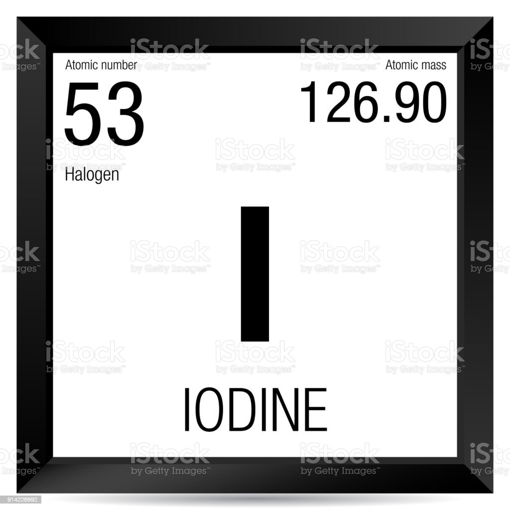 Iodine symbol element number 53 of the periodic table of the iodine symbol element number 53 of the periodic table of the elements chemistry royalty urtaz Images