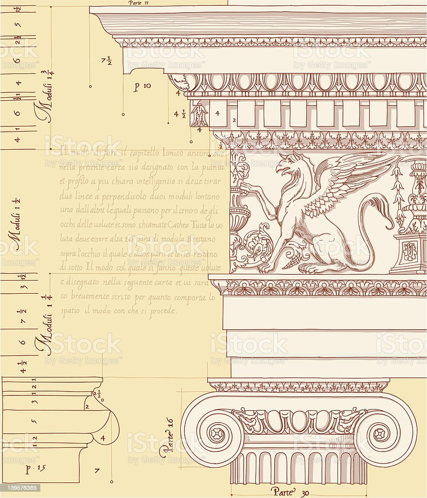 ionic architectural order royalty-free stock vector art