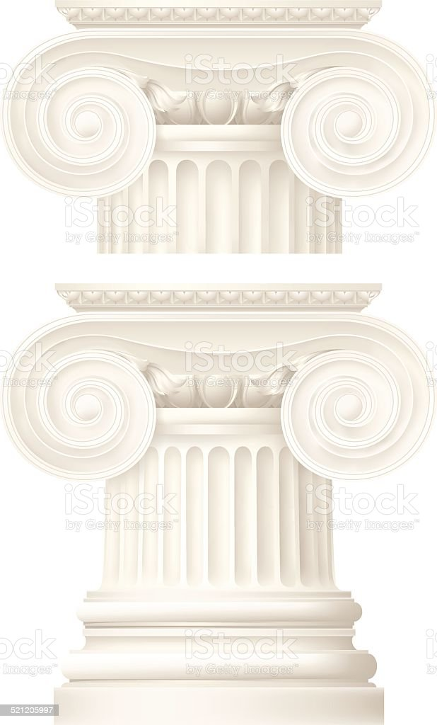 ionic column, architectural elements vector art illustration