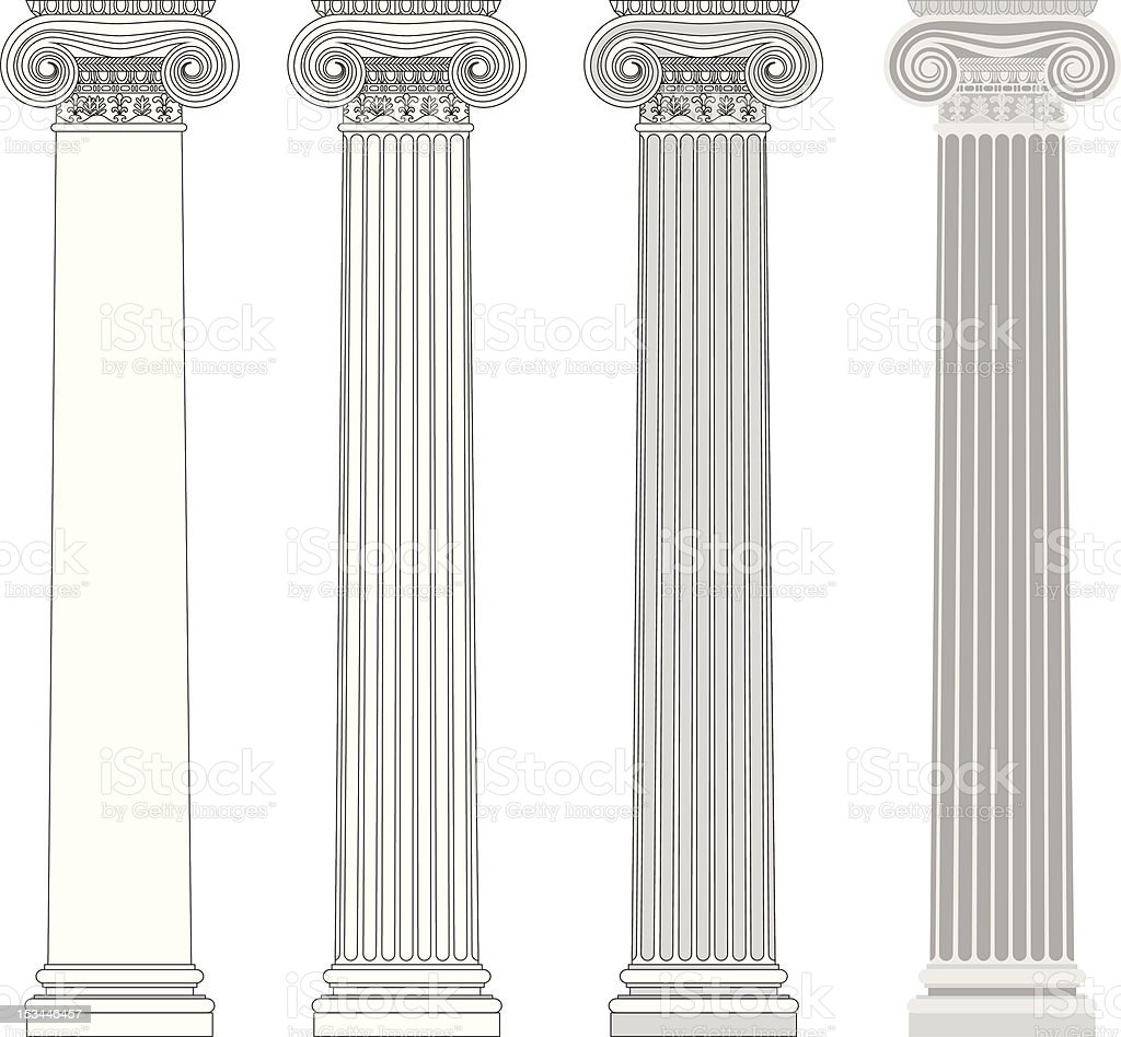 Ionic column royalty-free stock vector art