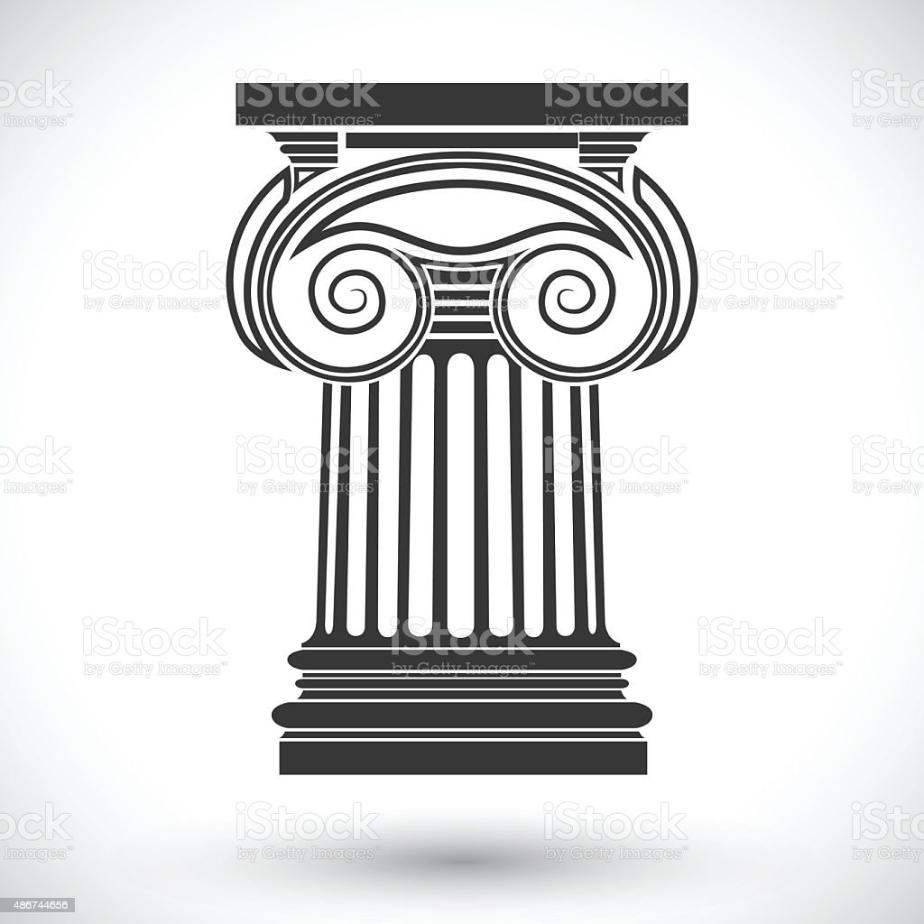 ionic column vector art illustration