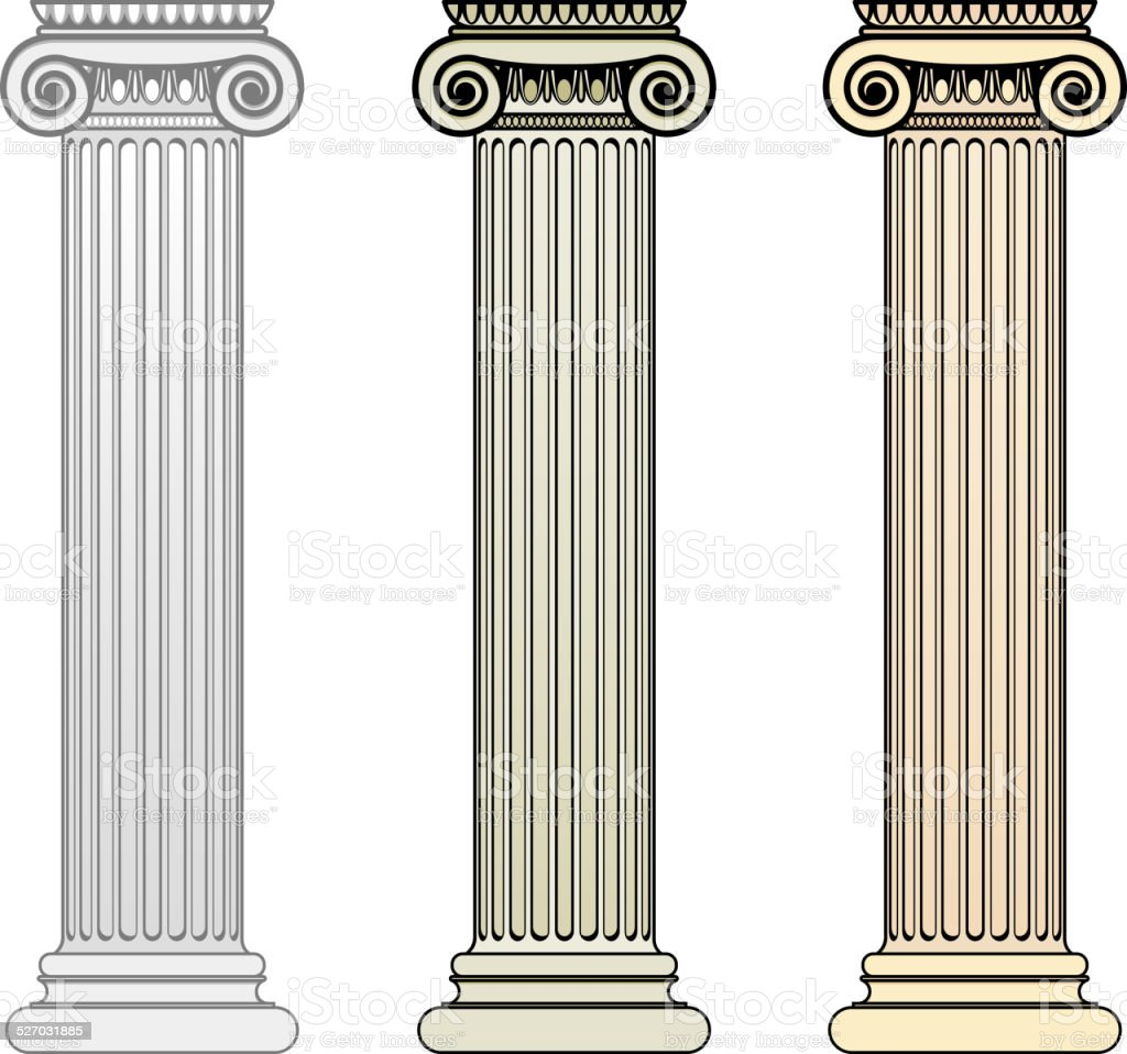 Ionic Column vector art illustration