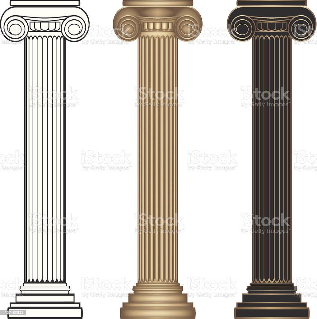 Ionic Columns royalty-free stock vector art