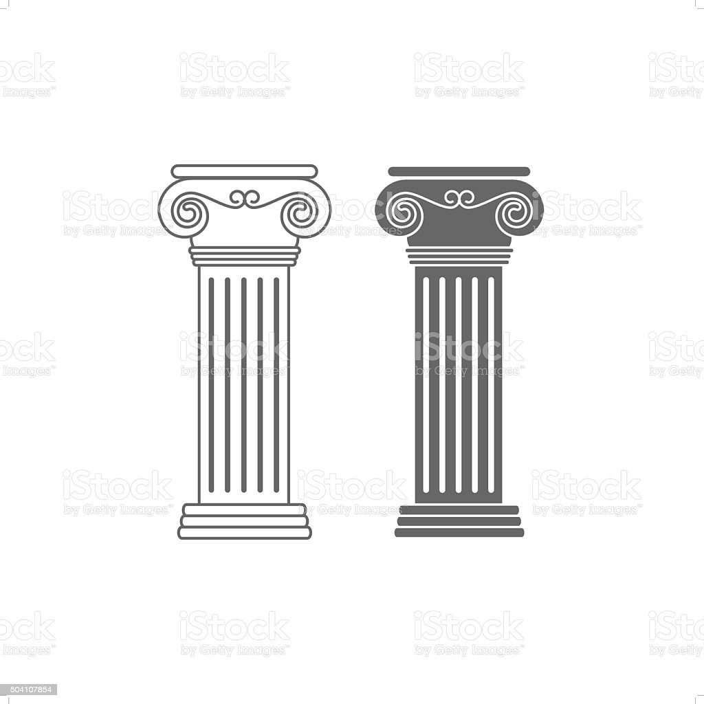 Ionic Columns vector art illustration