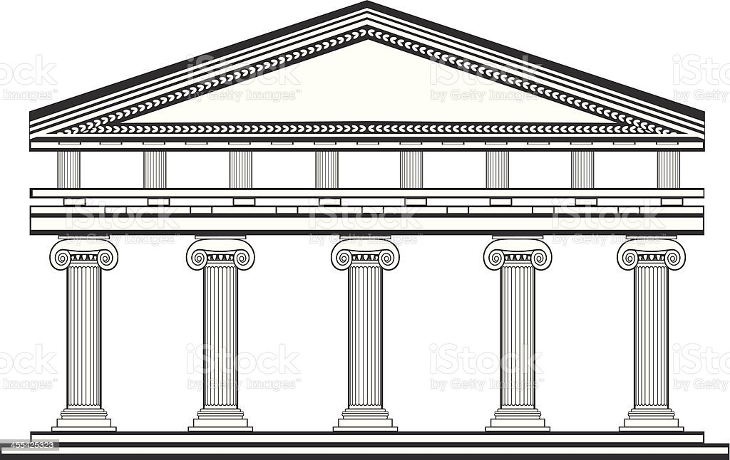 Ionic temple royalty-free ionic temple stock vector art & more images of ancient greece