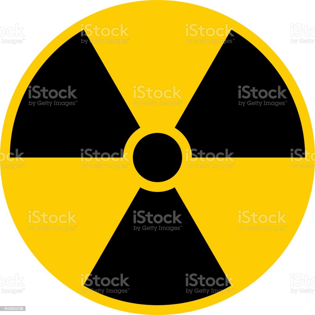 Ionizing Radiation Symbol Attention Danger Warning Sign vector art illustration