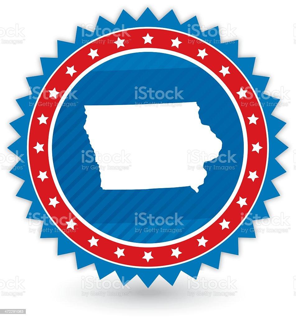 Iowa Badge vector art illustration