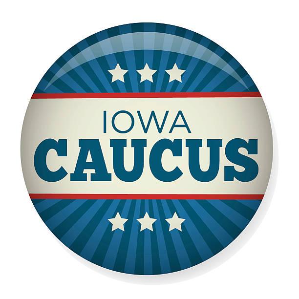 айова фракцией избирательной кампании pin» или логотипом. - presidential debate stock illustrations
