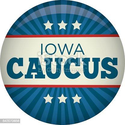 Iowa Caucus Campaign Election Pin