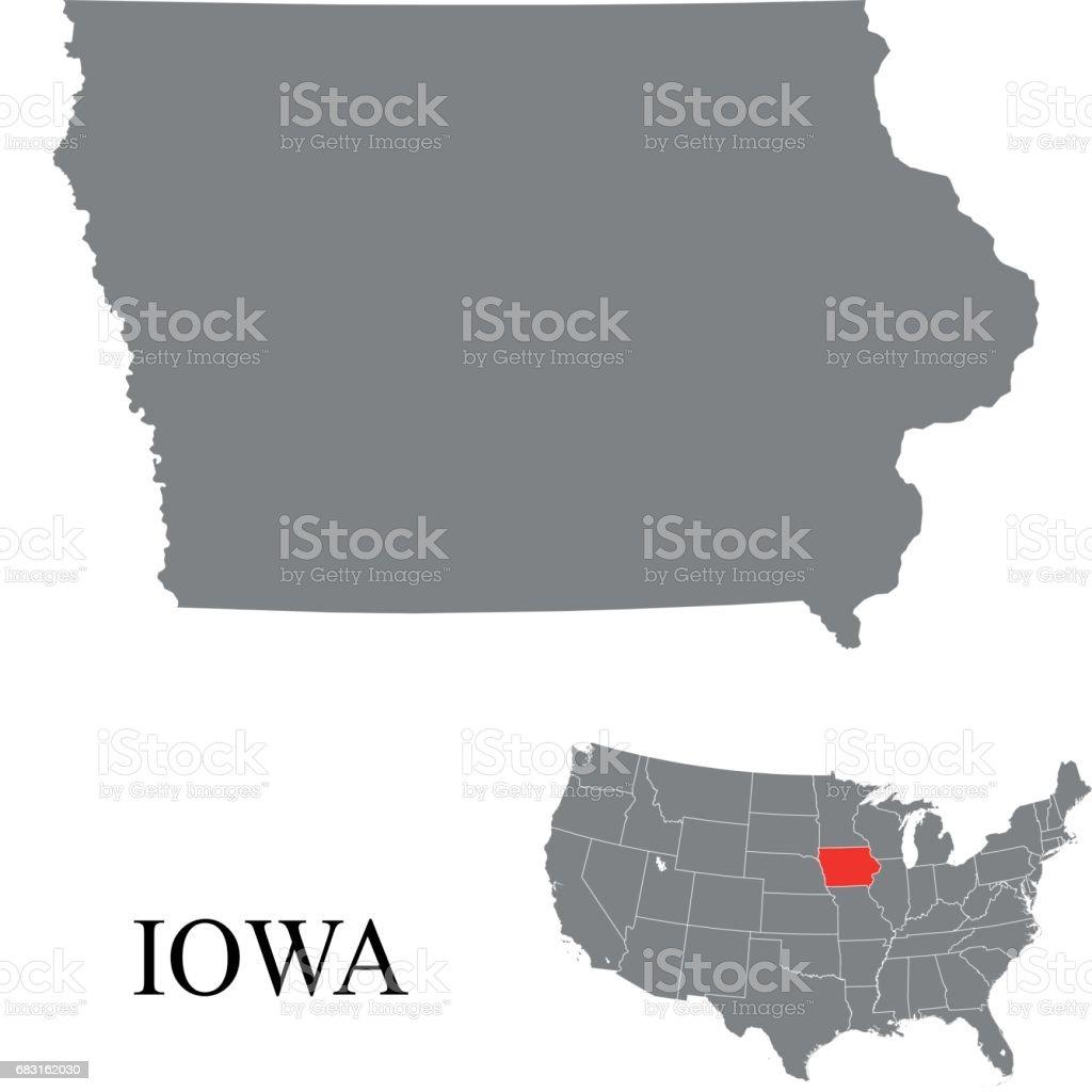 Iowa map royalty-free iowa map 0명에 대한 스톡 벡터 아트 및 기타 이미지