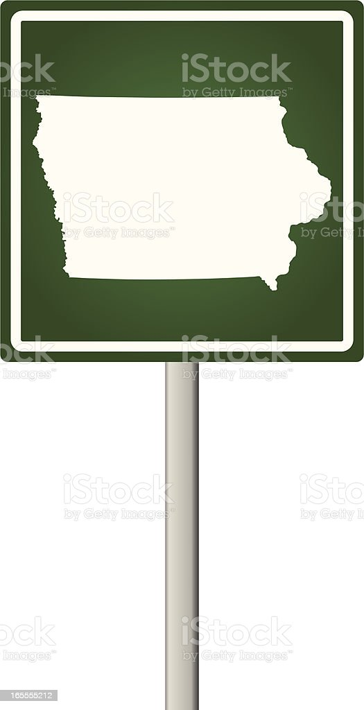 Iowa Sign royalty-free stock vector art