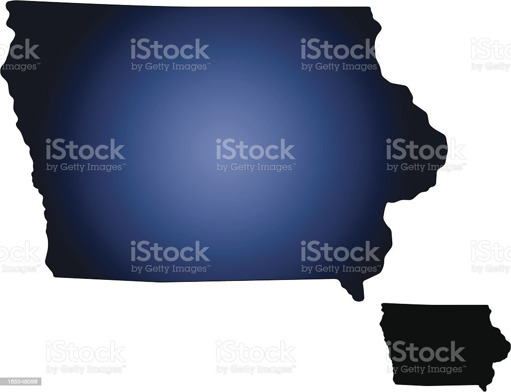 Iowa state map royalty-free stock vector art