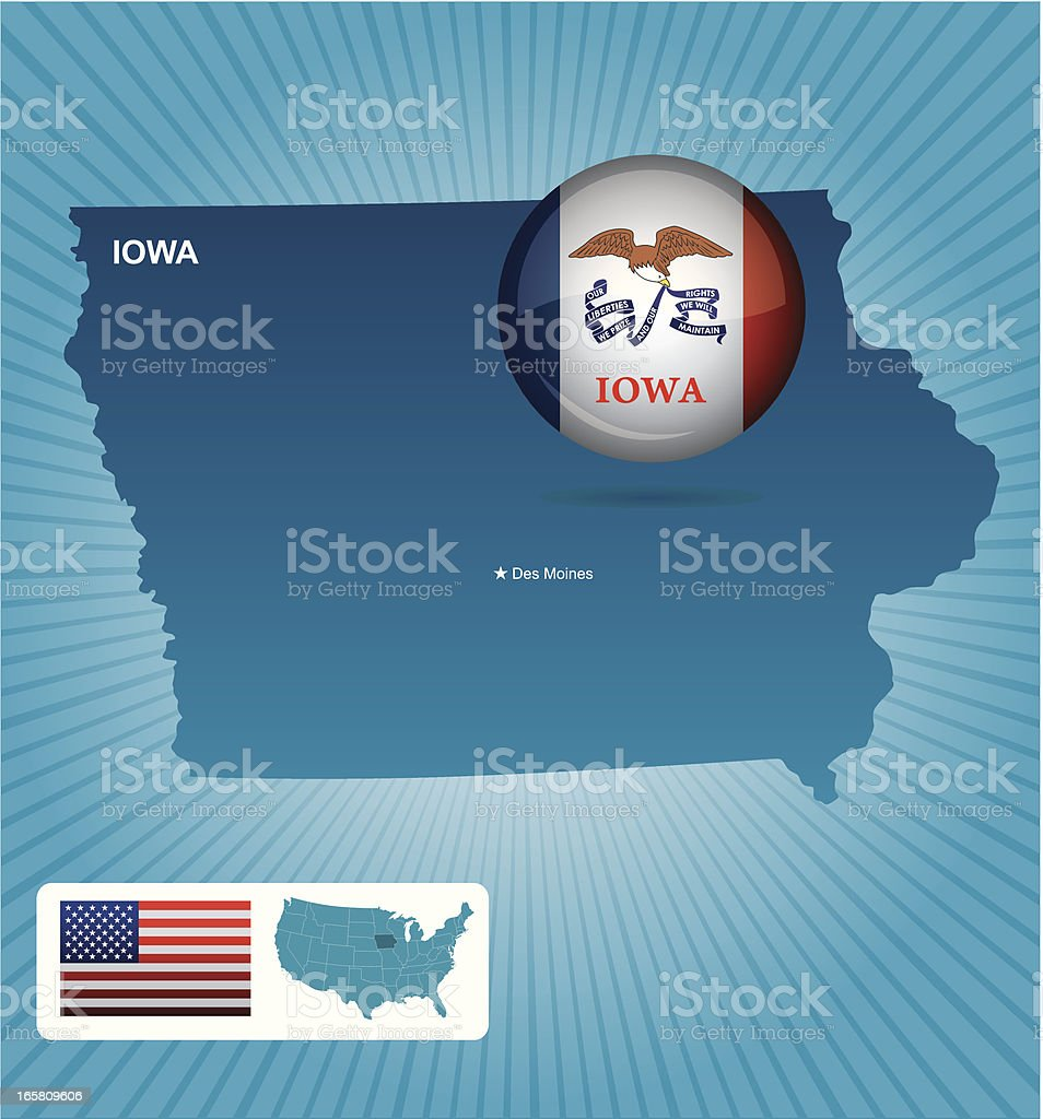 Iowa state royalty-free iowa state stock vector art & more images of american flag