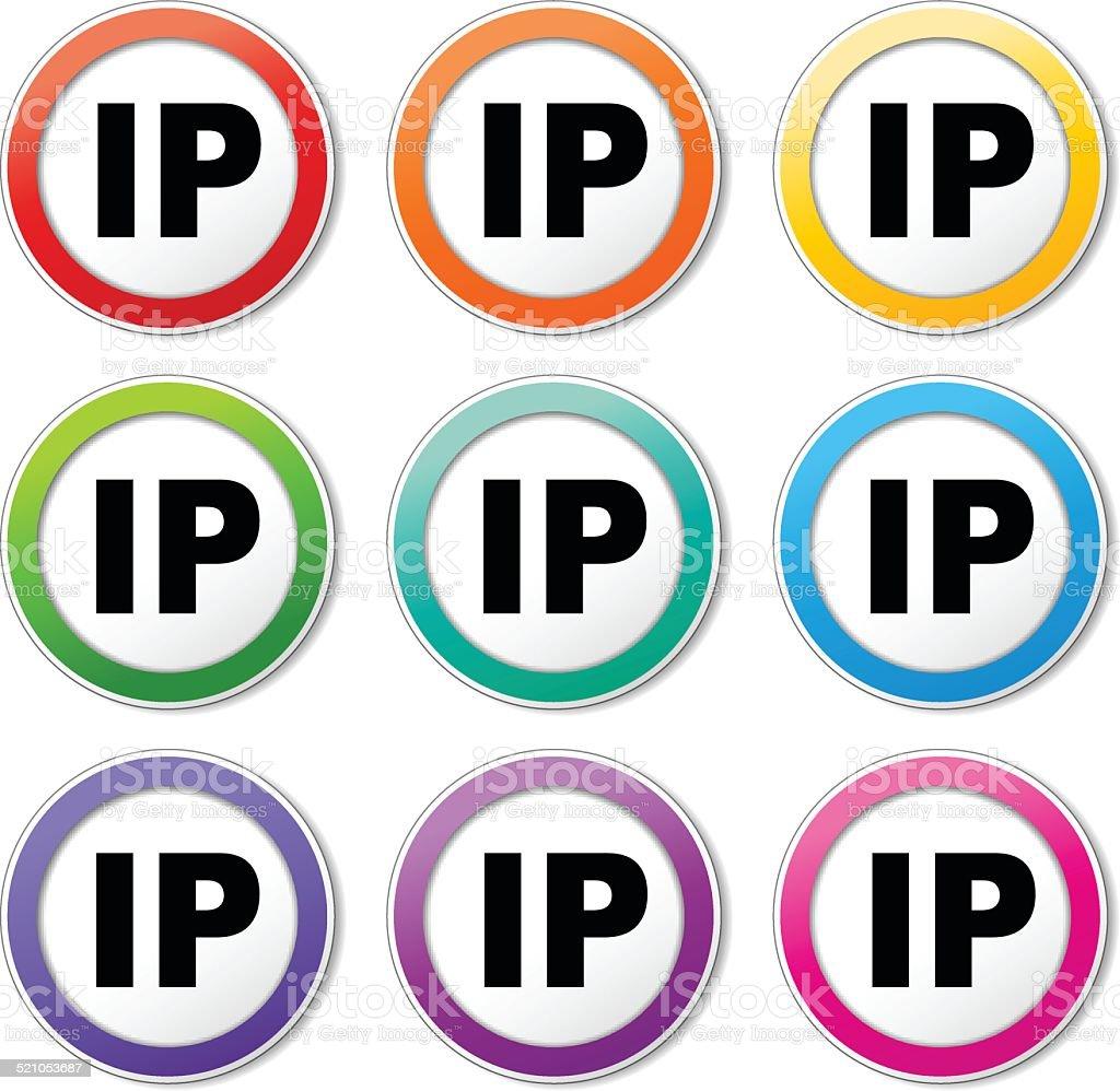 Ilustración de Iconos De Dirección Ip y más banco de imágenes de ...