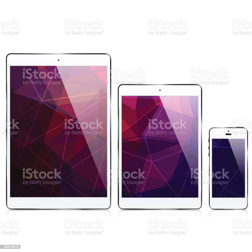 ipad iphone / triangular abstract background