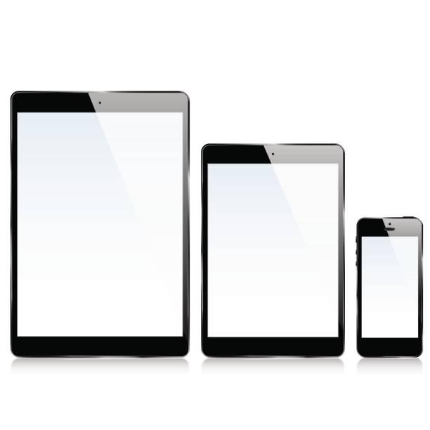 ipad iphone - ipad stock illustrations