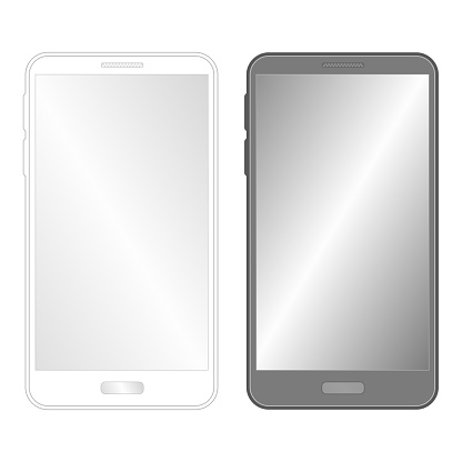 Iphone like phone, tablet, smart phone, Smartphone, Mobile Phone Wireframe stock illustration