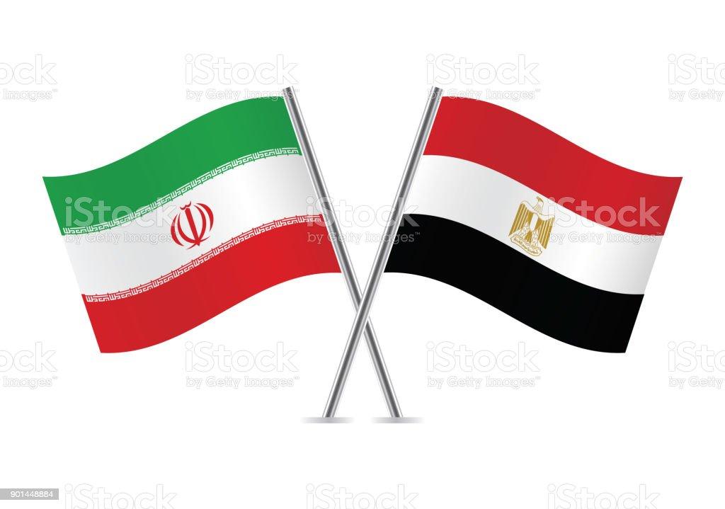 Sinalizadores de Irã e Egito. Ilustração em vetor. - ilustração de arte em vetor