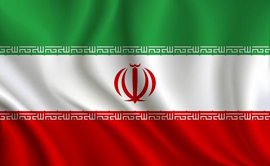 Iran flag background