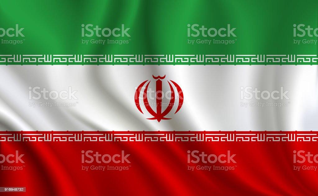 Fundo de bandeira Irã - ilustração de arte em vetor