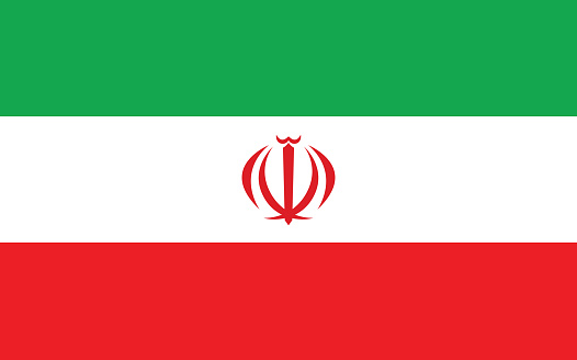 Iran flag vector graphic. Rectangle Iranian flag illustration. Iran country flag is a symbol of freedom, patriotism and independence.