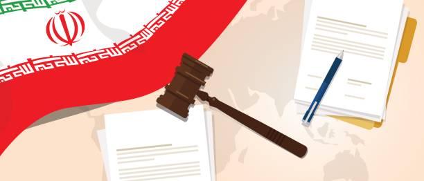 ilustraciones, imágenes clip art, dibujos animados e iconos de stock de irán ley constitución juicio legal justicia legislación prueba concepto bandera martillo papel y pluma - civil rights