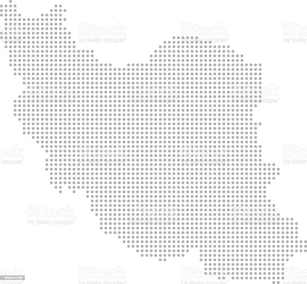 Iran Map Dots Vector Outline Dotted Map Point Patterns Map Faded ...
