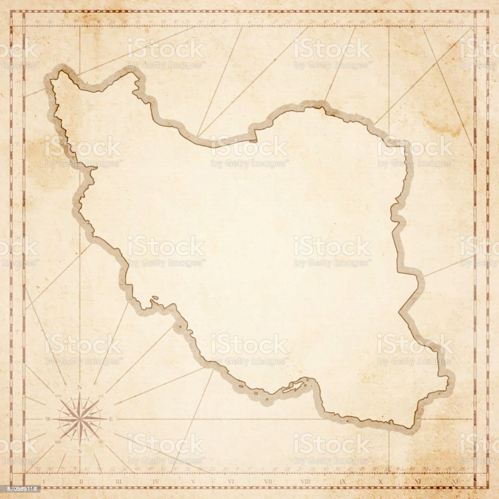 Iran map in retro vintage style old textured paper stock vector art iran map in retro vintage style old textured paper royalty free iran map in gumiabroncs Choice Image