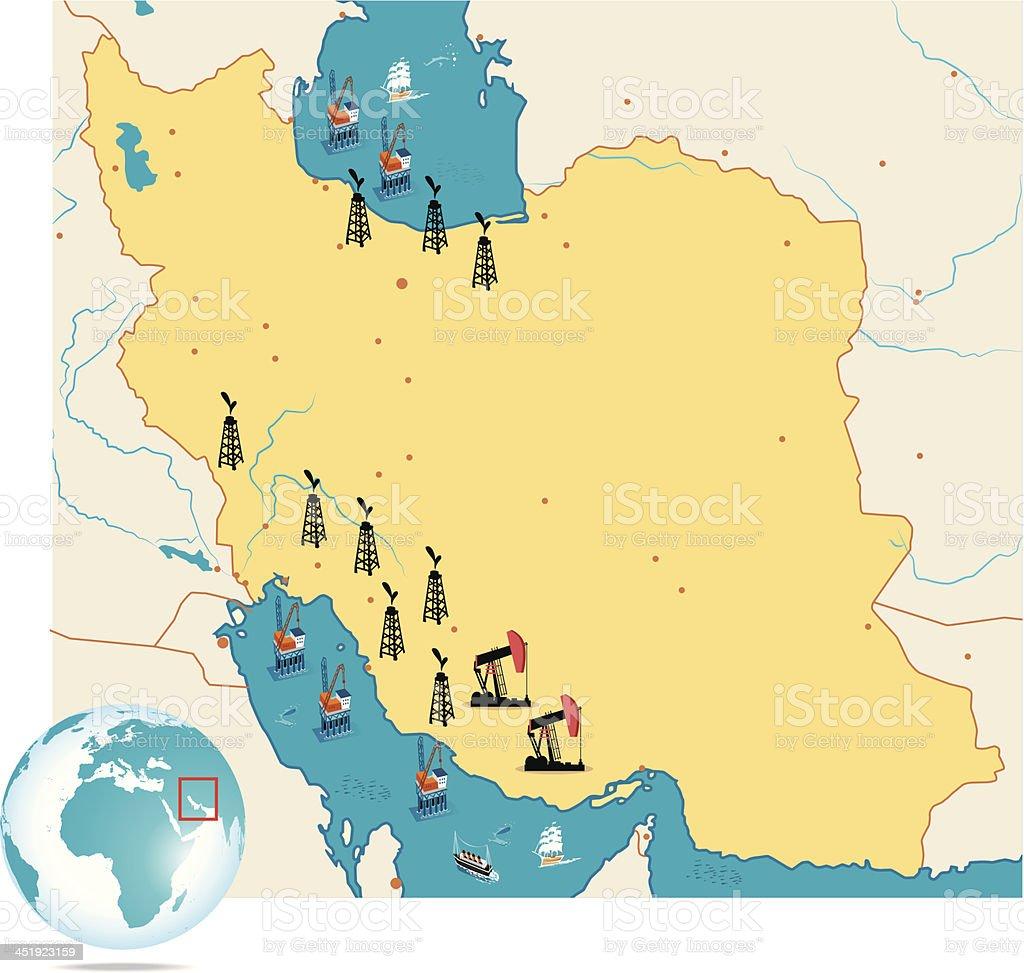 Iran map royalty-free stock vector art