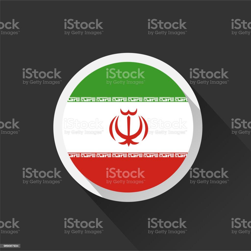 Bandeira nacional do Irã em fundo escuro. - ilustração de arte em vetor